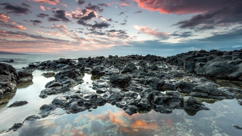 3840x2160 4K Ultra HD Nature Wallpaper, Mountains, Water, Sky, Sun, Clouds