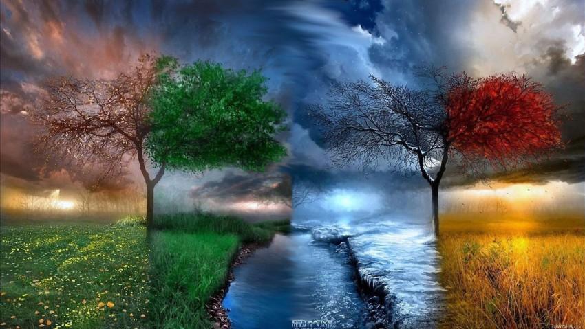 3840x2160 4K Ultra HD Nature Wallpaper, Tree, Water, Sky, Sun, Clouds