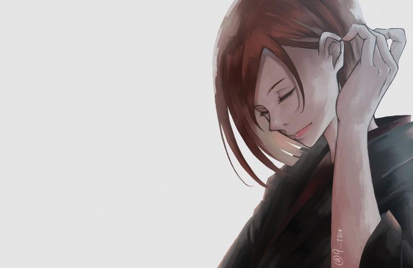 Anime, Art, Jujutsu Kaisen, Brown Hair, Girl, Nobara Kugisaki, HD Desktop Wallpaper