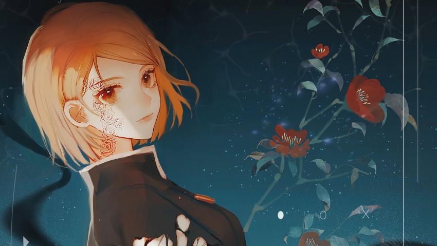 Brown Eyes Brown Hair Girl Jujutsu Kaisen Nobara Kugisaki School Uniform HD Desktop wallpaper