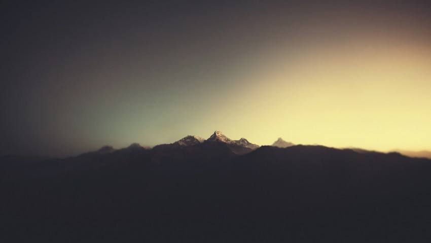 brown mountains, untitled, nature, minimalism, sunlight, landscape