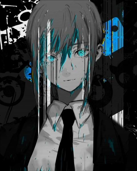 Chainsaw glitch , chainsawman, makima, manga, portrait, HD mobile wallpaper