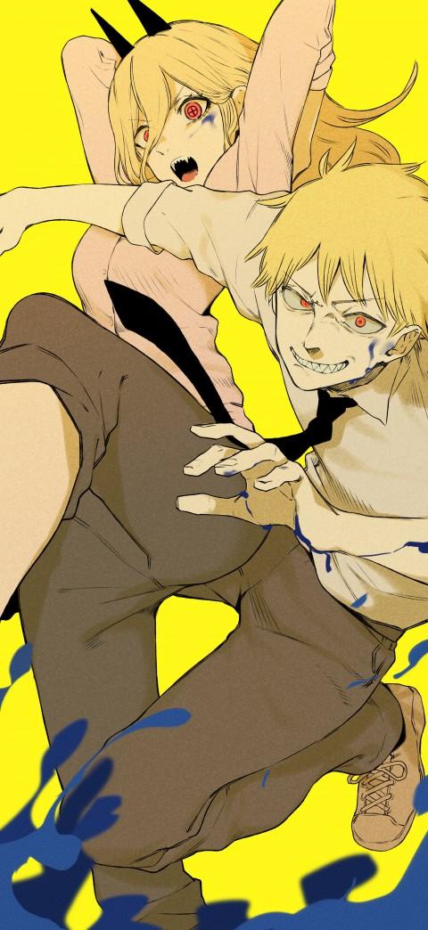 Chainsaw Man, anime boys, Power(Character), anime, HD mobile wallpaper