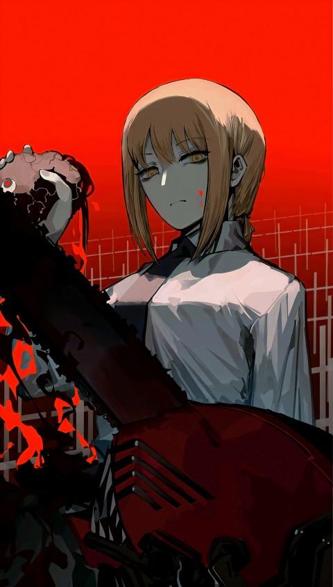 Chainsaw man, anime, chainsawman, denji, girl, makima, manga, HD mobile wallpaper