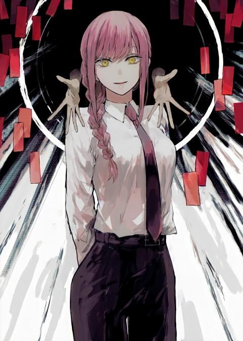 Chainsaw man , anime, chainsawman, girl, makima, manga, theme, HD mobile wallpaper
