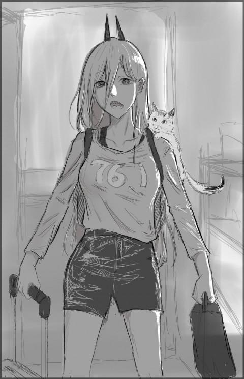 Chainsaw Man manga, Power(Character), anime, HD mobile wallpaper
