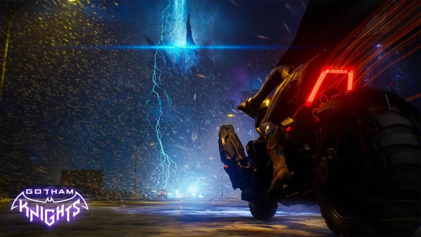 Gotham knights game wallpaper, Gotham City, Dark City, Bike
