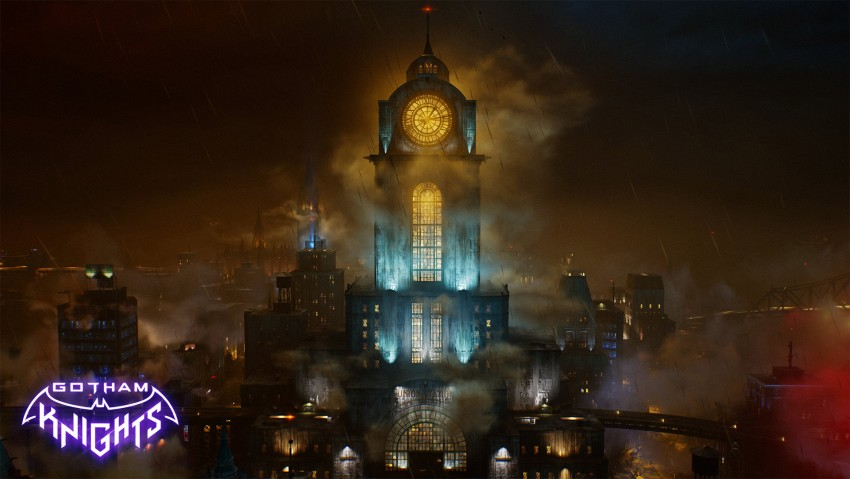 Gotham knights game wallpaper, Gotham City, Dark City