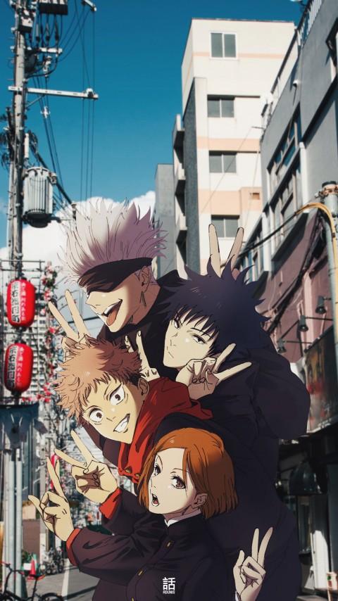 Jujutsu kaisen , anime, anime , gojo, jujutsu kaisen, satoru, HD mobile wallpaper