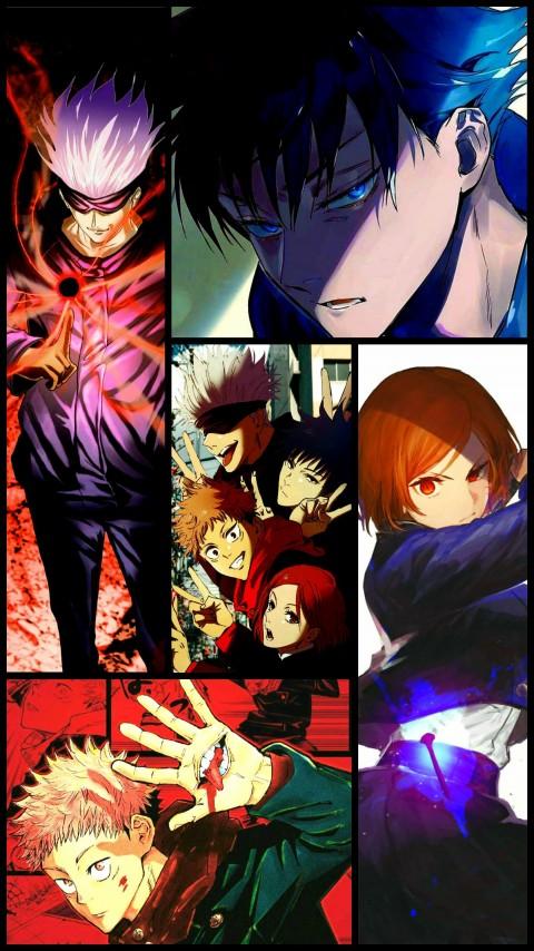 Jujutsu Kaisen, fushiguro megumi, gojo satoru, itadori yuji, kugisaki nobara, HD mobile wallpaper