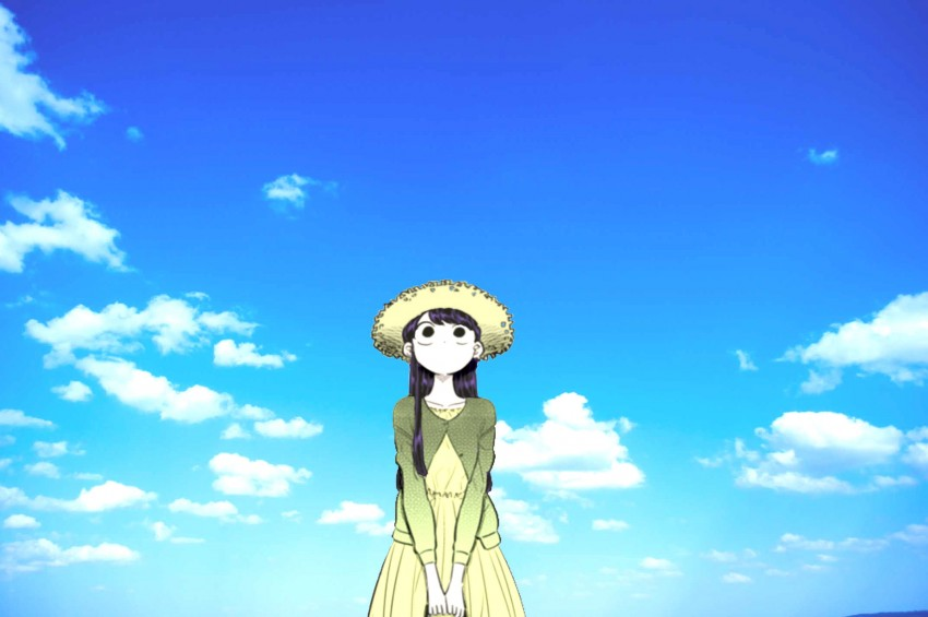 Komi-san Sky Color, color, komi, komi san, sky, Blue Sky, Komi Shouko HD wallpaper