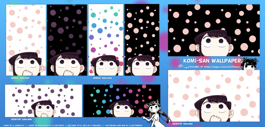 komi san wallpaper, anime, komi, looking up, black, background, HD mobile wallpaper