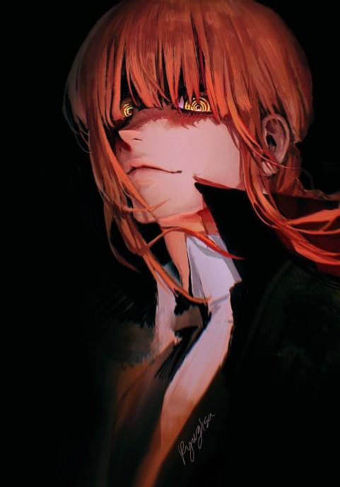 Makima, Chainsaw Man, Anime, HD mobile wallpaper