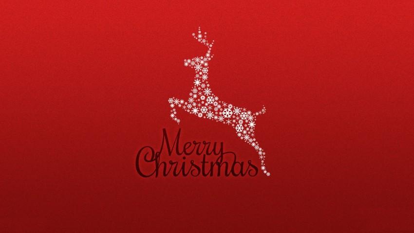 Merry Christmas Reindeer, Snow Reindeer, Simple Christmas Wallpaper