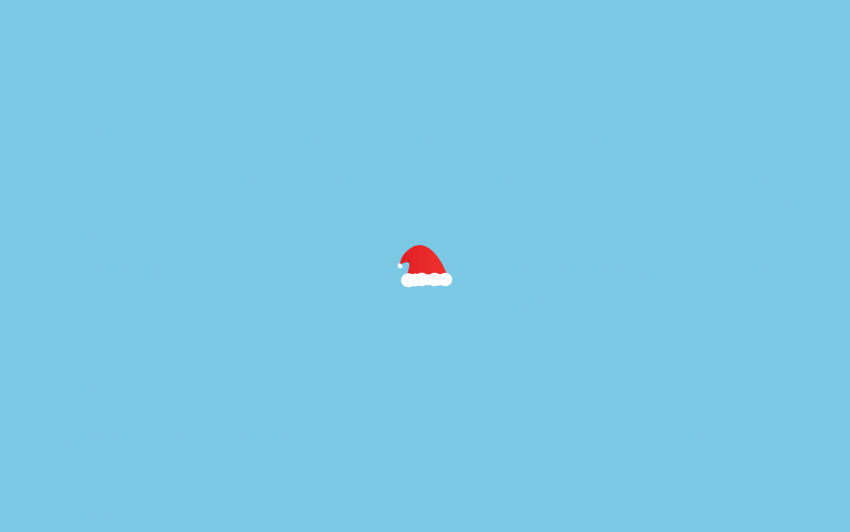 Minimalistic Christmas Wallpaper, Christmas wallpaper, Santa Claus Hat
