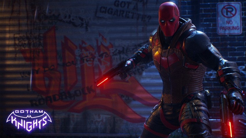 Red Hood, Gotham knights game wallpaper, Deadpool, Gotham City, Dark City