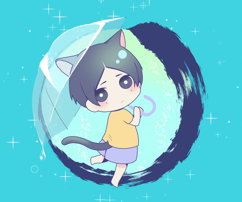 Yotasuke Takahashi, Blue period Wallpaper, Digital Art, Cute