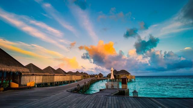 3840x2160 4K Ultra HD Nature Wallpaper, Water, Sky, Sun, Clouds
