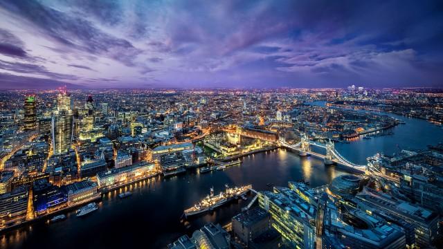 3840x2160 4K Ultra HD Nature Wallpaper, City, City Lights, Water, Sky, Sun, Clouds