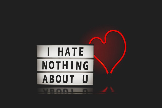I hate nothing about you quote wallpaper