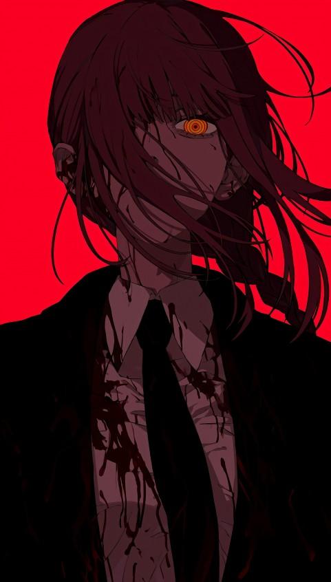 Chainsaw man, anime, chainsawman, girl, makima, manga, theme, HD mobile wallpaper