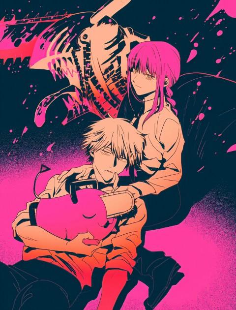 Chainsaw man, anime, chainsawman, denji, girl, makima, manga, pochita, theme, HD mobile wallpaper
