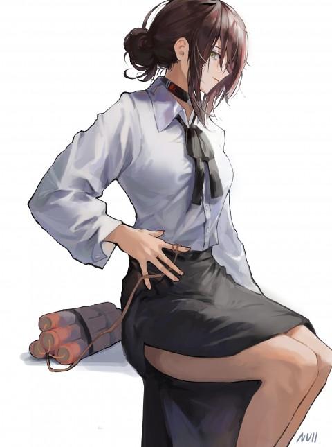 Anime, anime girls, Reze (Chainsaw Man), Chainsaw Man, Null, brunette, HD wallpaper