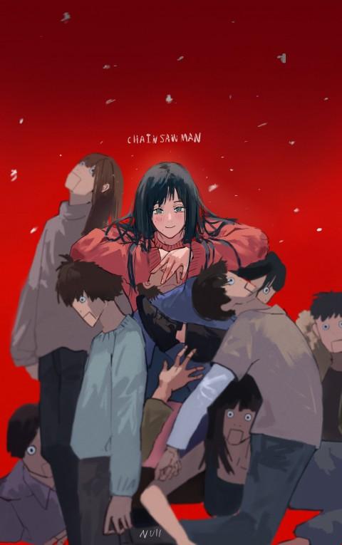 Anime, anime girls, Null, Chainsaw Man, HD iPhone wallpaper