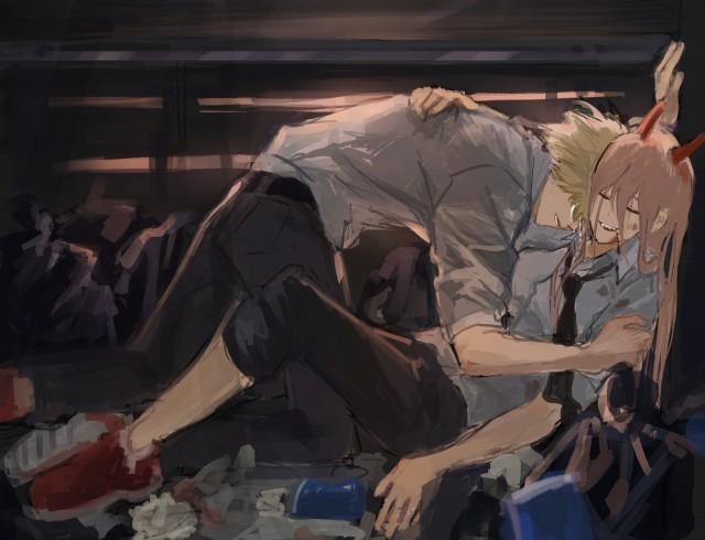 Anime, Chainsaw Man, Denji (Chainsaw Man), Power (Chainsaw Man), HD wallpaper