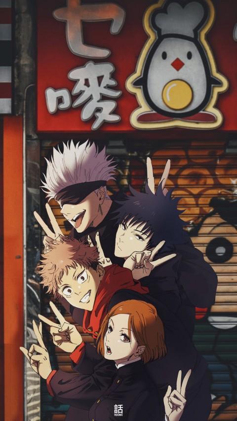 Jujutsu kaisen, anime, gojo, satoru, HD iPhone wallpaper