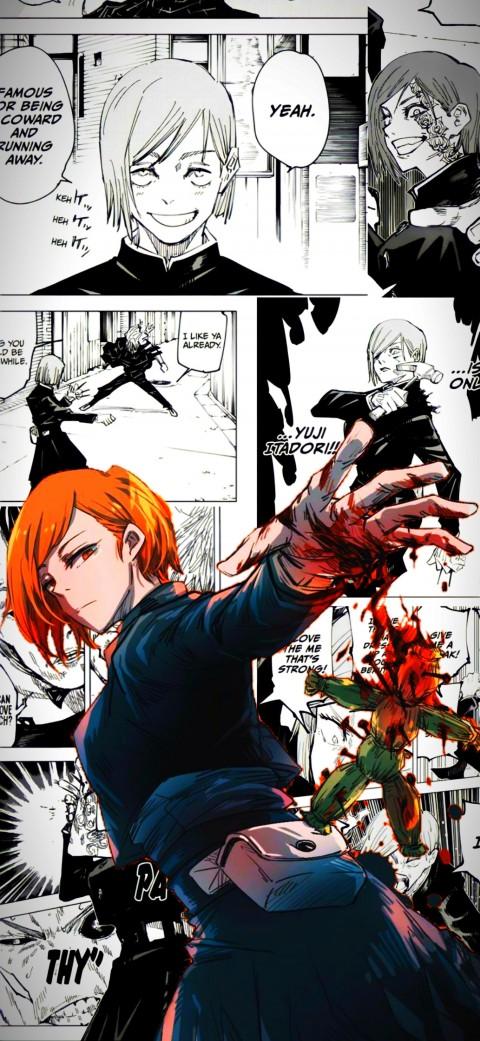 Nobara manga, jujutsu kaisen, nobara kugisaki, HD mobile wallpaper