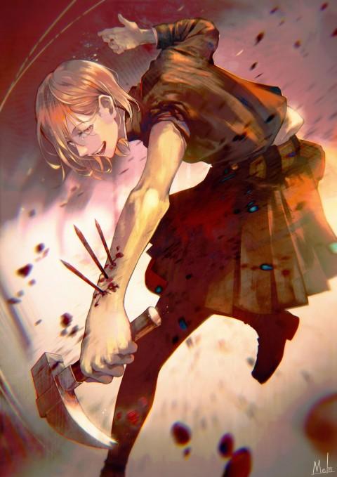 Nobara Kugisaki, anime, jujutsu kaisen, HD mobile wallpaper