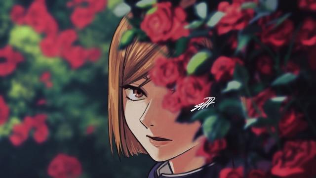 Brown Eyes Brown Hair Girl Nobara Kugisaki School Uniform Jujutsu Kaisen, HD Desktop wallpaper