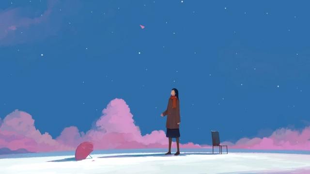 Anime minimalist aesthetic wallpaper image