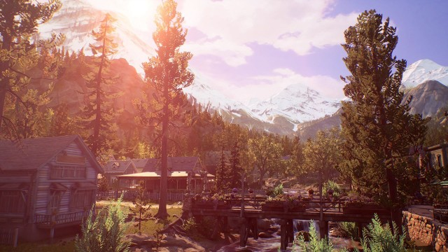 Life Is Strange: True Colors Wallpaper, Town, View, Trees, Nature, Video Game, Game, HD Wallpaper