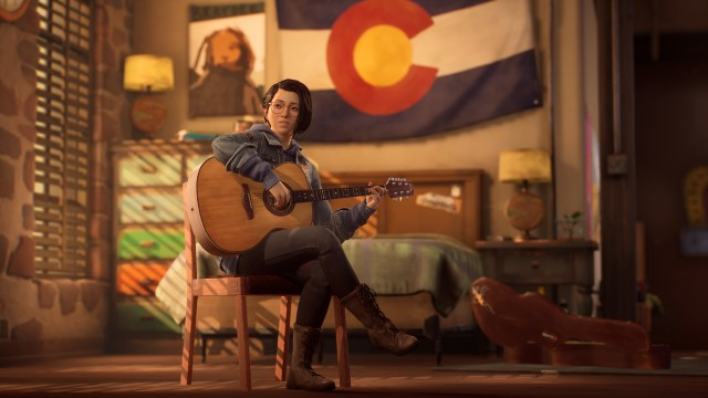 Alex Chen Playing Guitar, Life Is Strange: True Colors wallpaper, Art, Artwork, Video Game, Game