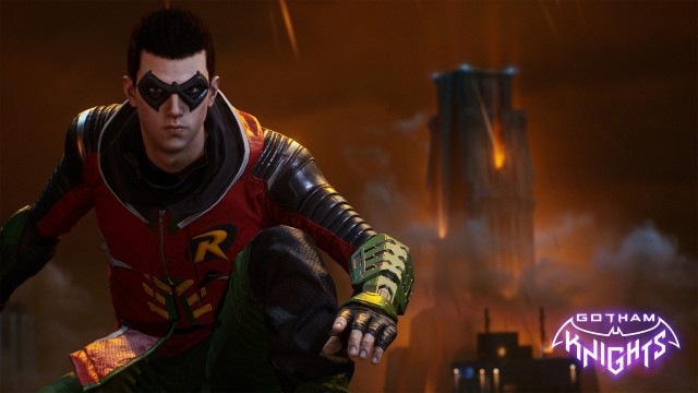 Robin, Gotham knights game wallpaper, Gotham City, Dark City