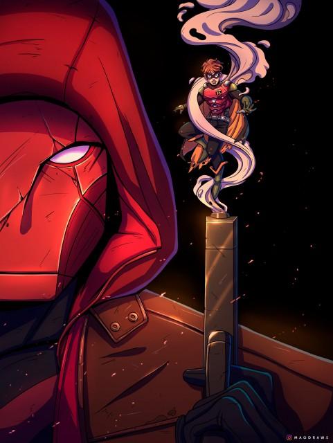 Red Hood, Robin, Gotham knights game wallpaper, Gotham City, Dark City