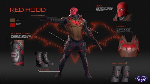 Red Hood, Game Gotham knights game wallpaper, Gotham City, Dark City