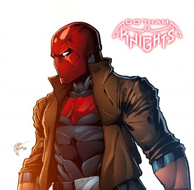 Red Hood, Artwork, Art, Gotham knights game wallpaper, Gotham City, Dark City