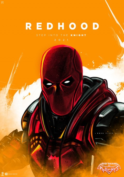 Red Hood Poster, Gotham knights game wallpaper, Gotham City, Dark City