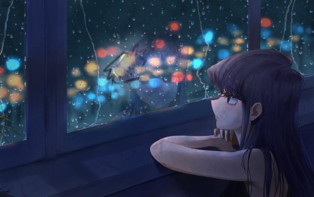 Komi san wa Comyushou desu , anime girls, black hair, alone