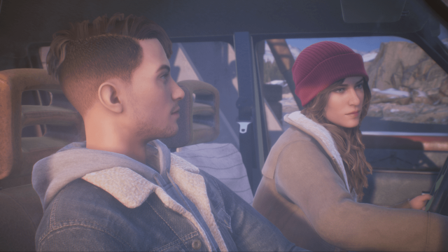 Tell Me Why Game 4k Wallpaper, Tyler and Alyson in car