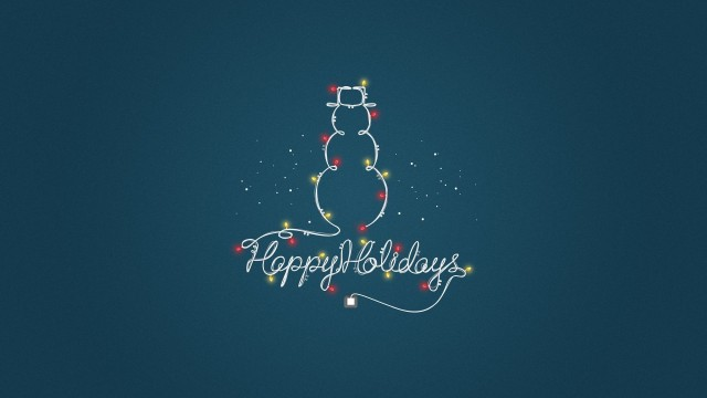 Happy Holidays Simple Message Wallpaper and Free Stock Photo, Merry Christmas