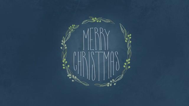 Simple Merry Christmas Illustration Desktop Wallpaper, Christmas 4k Wallpaper
