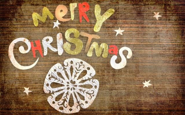 Simple Merry Christmas Wallpaper, Christmas Desktop Wallpaper