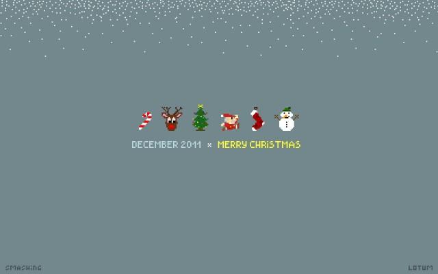 Christmas Pixel desktop PC and Mac wallpaper, 25 December 2021
