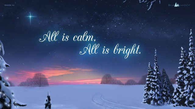 Religious Christmas Wallpaper, All is clam all is bright Qoutes