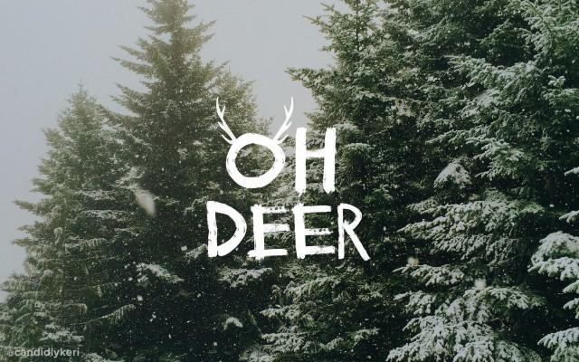 Oh Deer Christmas 2021 Desktop Wallpaper imac, Candidly Kerri