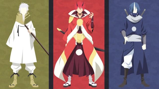 That Time I Got Reincarnated as a Slime, Anime, Hakurou, Benimaru, Souei, Minimalist, 4K